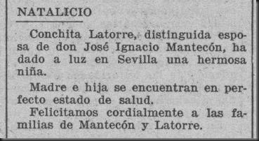 1930 Nace hija Sevillana