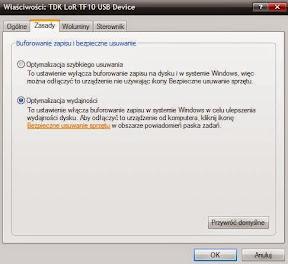 Formatowanie pendrive na system plików NTFS - ostatni krok