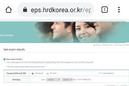 Cara Cek Hasil Ujian EPS TOPIK KOREA