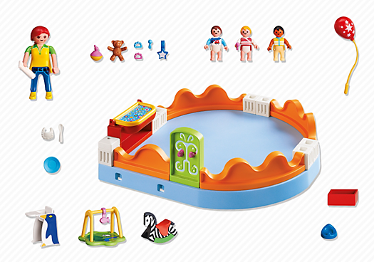 Contenido real de Playmobil® 5570 Zona de Bebés