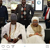 Ooni of Ife's wife caught peeping while he was engrossed with his phone