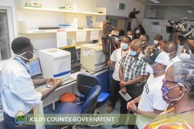 Kilifi county governor Amazon Kingi at KEMRI