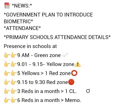 Bio metric Attendance plan