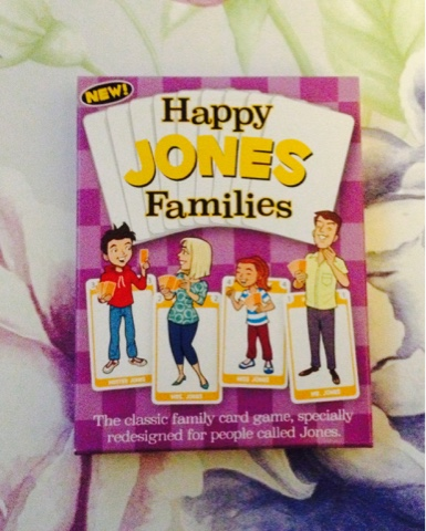 Jones Happy Families from Go For It Games