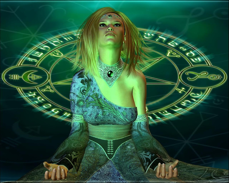 Casting Green Spell, Magic And Spells