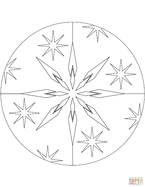 Christmas Mandala With Stars