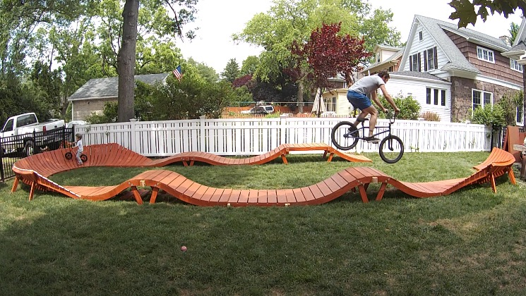 Backyard Pumptrack help me design a mtb skills course | mtbnj