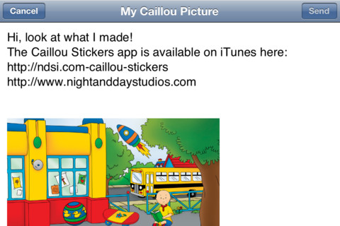Caillou Stickers E-Mail