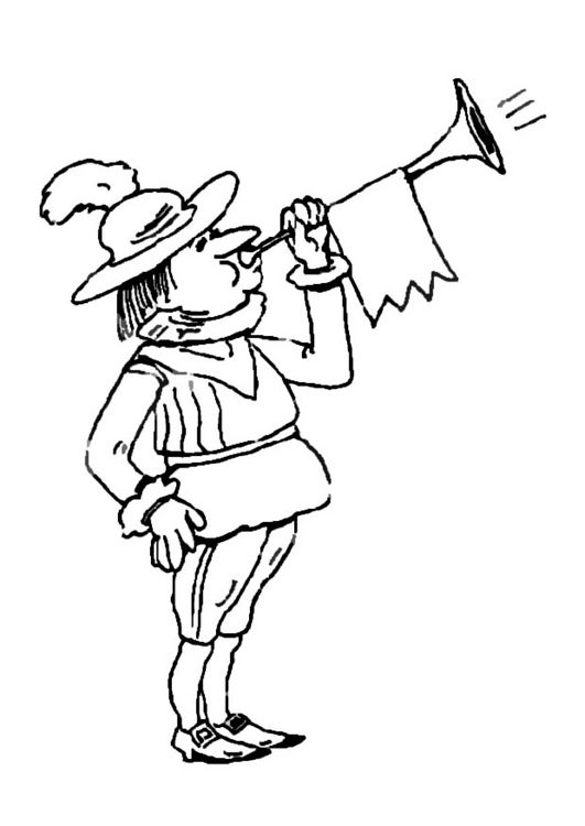 king's trumpeter coloring pages