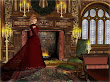 Lady In Red In Beautiful Castle