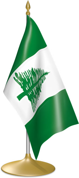 Norfolk Island table flags - desk flags