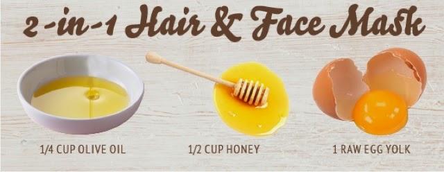 Homemade face mask for acne. Oatmeal honey and egg white.