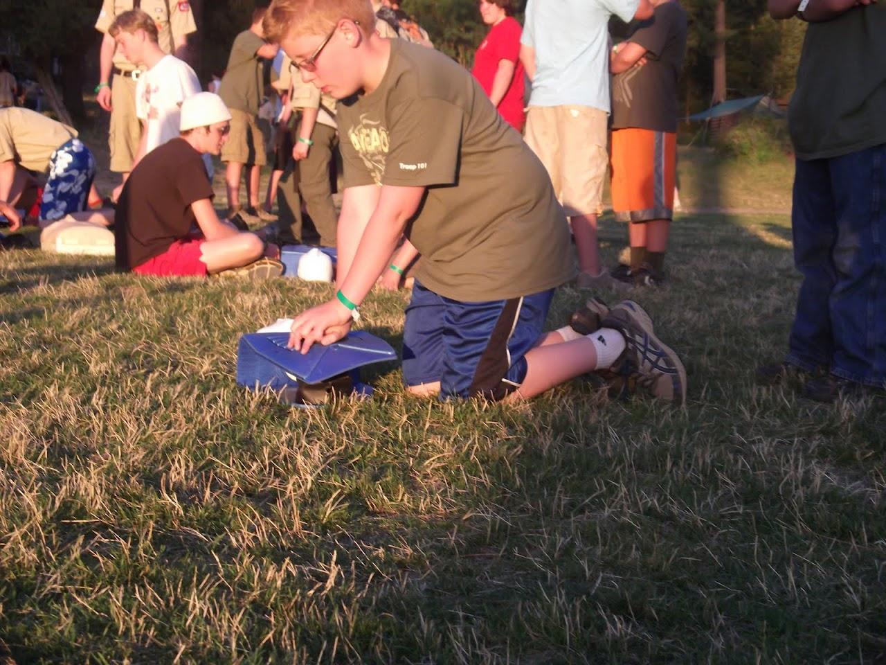 Alex doing CPR