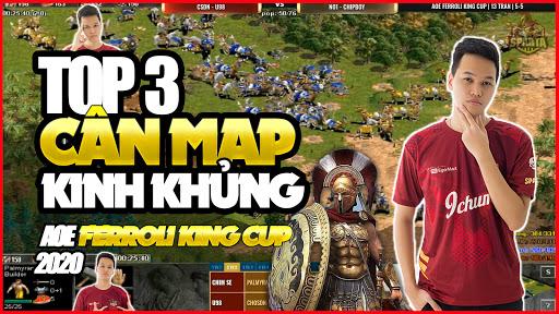 ĐỈNH CAO AOE HIGHLIGHT   Top 3 trận cân map kinh khủng nhất của Chim Sẻ tại AOE FERROLI KING CUP