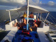 us on the boat heading back to Donsol town after 3 great dives