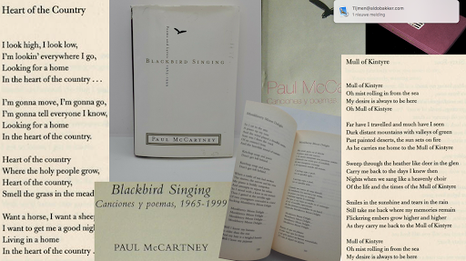 Blackbird Singing - collage