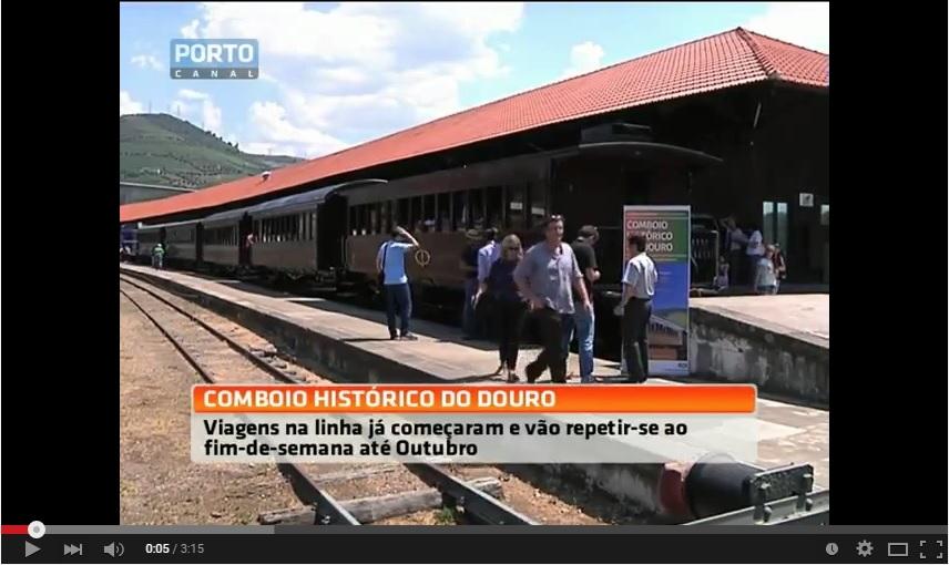 Reportagem Porto Canal - Comboio histórico já percorre as margens do Douro