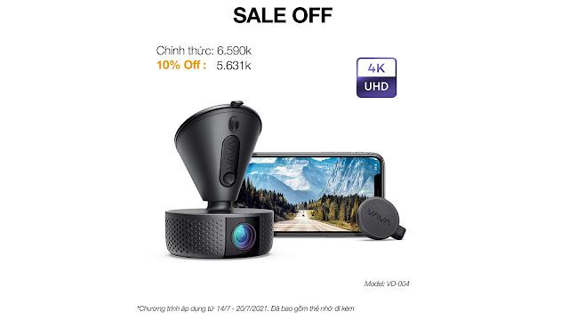 VAVA Dash Cam giảm giá 10%