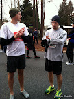 Steve and Justin pre-race. They dropped some layers back in the car before the race started.