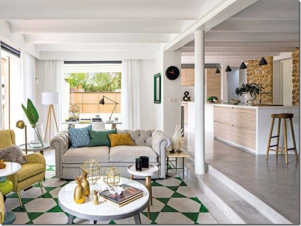 Colori freschi e stile retro chic case e interni for Case di tronchi freschi