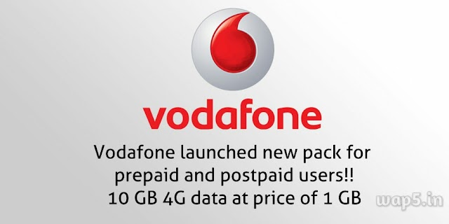 Vodafone 10GB Data in Price of 1GB for 4G Mobile users