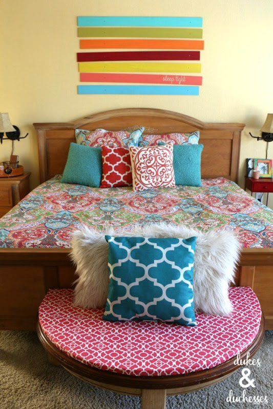Colorful bedroom decor