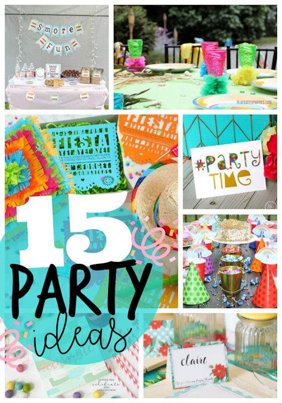 15 Party Ideas at GingerSnapCrafts.com #party #partyideas #partyfavors