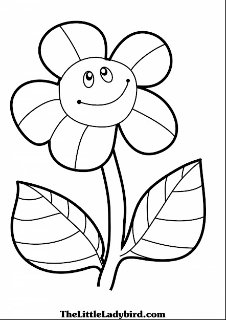 Brilliant Coloring Page Of Smiling Sunflower Pages The Little With And