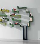 libreria linea Lago mobili sospesa a parete