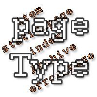 Types et sous types de pages Blogger