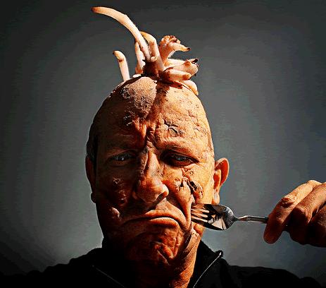 Creepy Self Portraits Fork, Death