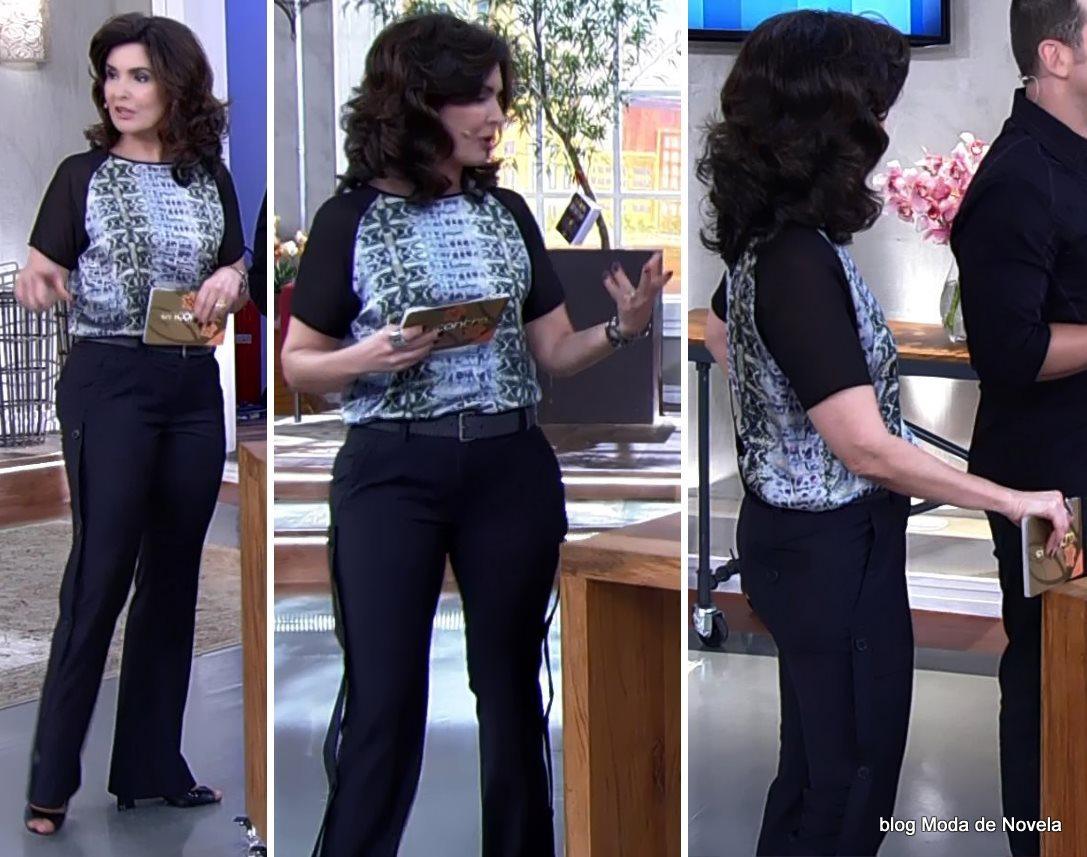 moda do programa Encontro - look da Fátima Bernardes dia 31 de julho