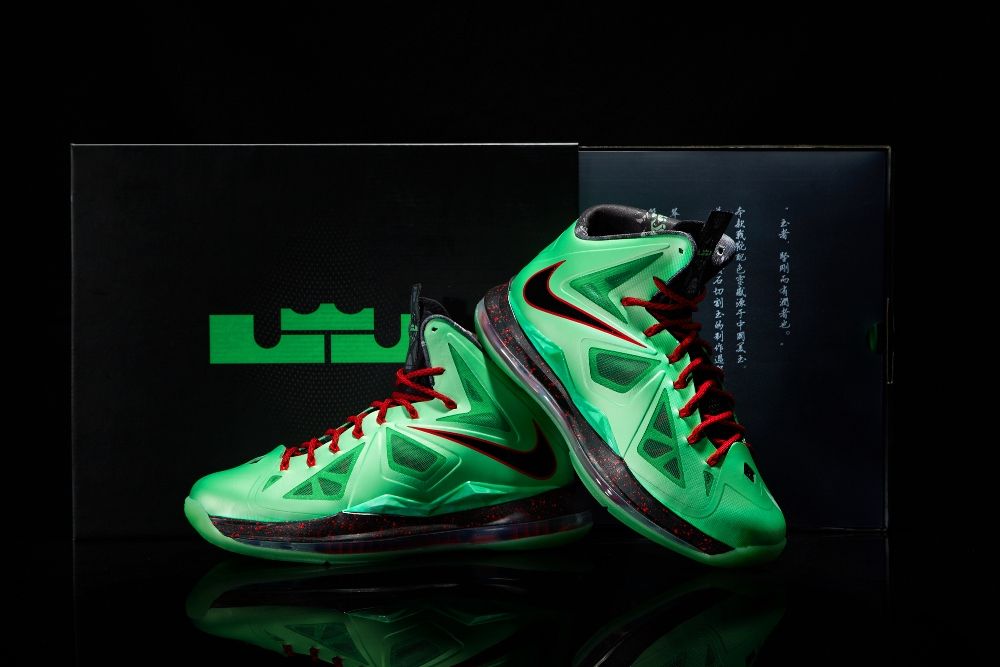best service ba6a1 ab3e9 Nike LeBron X Cutting Jade China Edition and its Special Package ...