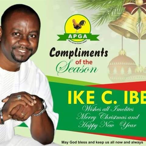 Rt. Hon. Ike C. Ibe, Right Option To Moving And Liberating Ala-Imo Come 2019.