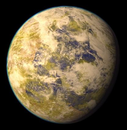 ilustração do exoplaneta Gliese 832c