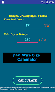 pec Wire Size Calculator FREE - náhled