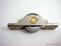裝潢五金 型號:306-6001-白鐵平輪 規格:ˇ30MM 玖品五金