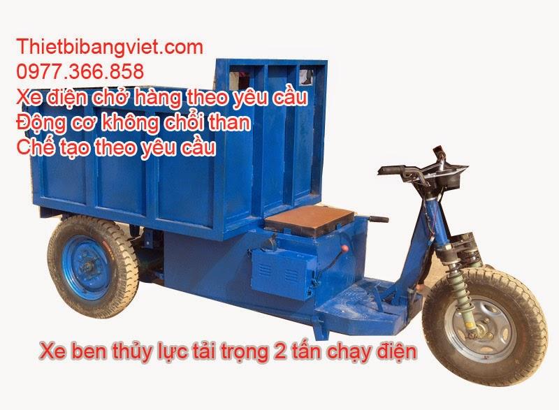 Xe điện chở hàng chạy điện, ben thủy lực