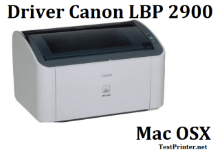 Free download driver Canon 2900 on Mac OSX