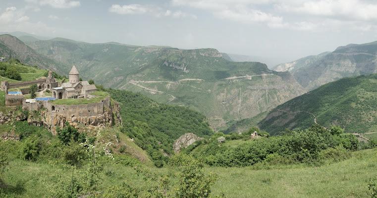 Kloster Tatev über der Vorotan Schlucht