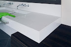 Polished Pure White sink counter top & splashback