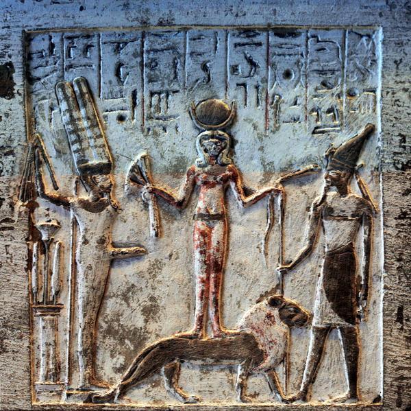 Stele Of Qadesh Upper Frame, Egyptian Magic