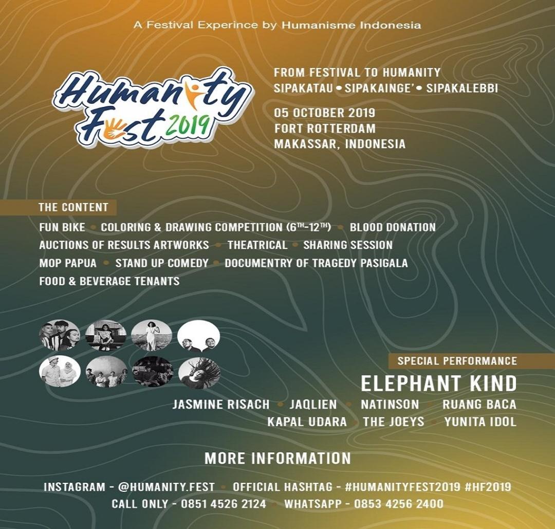 Festival Humanity Fest 2019 Akan Digelar 5 Oktober 2019