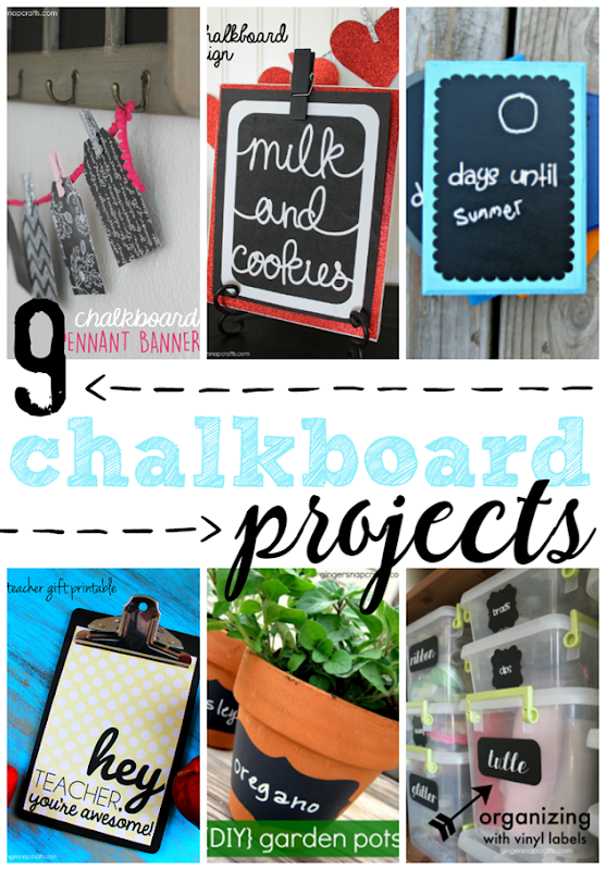 9 Chalkboard Projects at GingerSnapCrafts.com