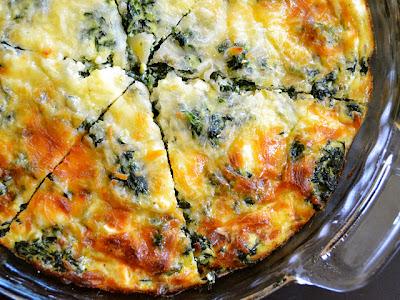 Spinach & Mushroom Crustless Quiche
