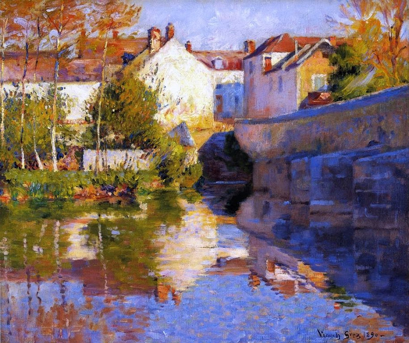 Robert Vonnoh - Beside the River (Grez)