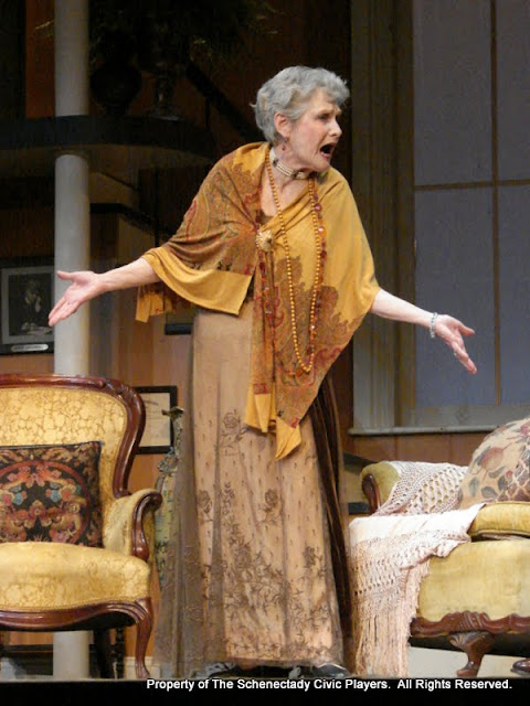 Joanne Westervelt in THE ROYAL FAMILY (R) - December 2011.  Property of The Schenectady Civic Players Theater Archive.