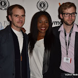 OIC - ENTSIMAGES.COM - Luke Healy producer, Karen Bryson and Anthony Woodley director at the Raindance The Carrier Film Premier  at the Vue in Piccadilly  , London on the 30th September 2015. Photo Mobis Photos/OIC 0203 174 1069