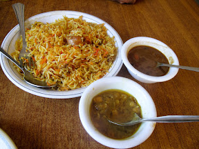 Even Biryani is served with Red beans.