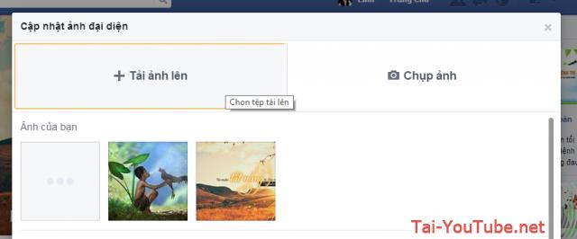 Hình 3 - Cách thay hình đại diện (Avatar) trên Facebook